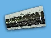 АЖУР ХРОМ - наконечник для металлического карниза - выбор формы и цвета