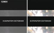 INTEGRA SLIM DUO - Рулонные шторы ЗЕБРА из ткани BASIC ЧЕРНЫЙ - Цена за 1 пог. метр высоты