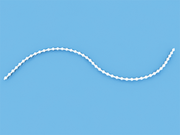 Цепь управления эконом 200 пог. метров белая 4,4 мм для вертикальных жалюзи 89 мм