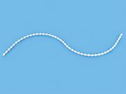 Цепь управления сплошная белая диаметр 4,4мм для сдвига ламели вертикальных жалюзи - цена за 1 пог. метр