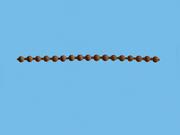 Цепь управления коричневая диаметр 3 мм для рулонных штор мини - цена за 1 пог. метр