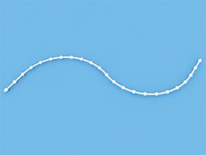 Цепь управления с пропуском классик 200 пог. метров белая 4,4 мм для вертикальных жалюзи 89 мм