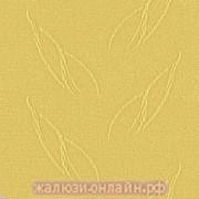 ИРИС 28 ЖЕЛТЫЙ - Ламели вертикальные из ткани без карниза - цена за 1 кв. метр с грузилами и цепочкой