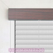 Кассетные горизонтальные жалюзи цвет-1003-БЕЛАЯ ПЕРФОРАЦИЯ ПОД МАХАГОН - 25 мм