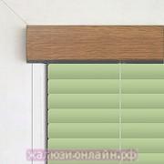 Кассетные горизонтальные жалюзи цвет-303-САЛАТОВЫЙ ПОД ЗОЛОТОЙ-ДУБ - 25 мм