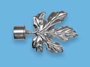 КЛЕН ХРОМ - наконечник для металлического карниза - выбор формы и цвета