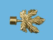 КЛЕН ЗОЛОТО МАТОВОЕ - наконечник для металлического карниза - выбор формы и цвета