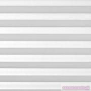 INTEGRA PLISSE шир. 50 см  выс. 130 см крепление в 15 мм штапик из ткани - КРЕП ПЕРЛАМУТР БЕЛЫЙ