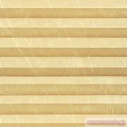 INTEGRA PLISSE шир. 50 см  выс. 130 см крепление в 15 мм штапик из ткани - КРАШ ПЕРЛАМУТР КРЕМОВЫЙ