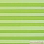INTEGRA PLISSE шир. 50 см  выс. 130 см крепление в 15 мм штапик из ткани - КРЕП ПЕРЛАМУТР САЛАТОВЫЙ