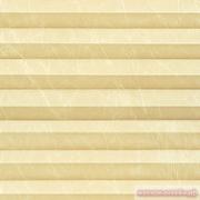 INTEGRA PLISSE шир. 50 см  выс. 130 см крепление в 15 мм штапик из ткани - КРАШ ПЕРЛАМУТР СЛОНОВАЯ КОСТЬ