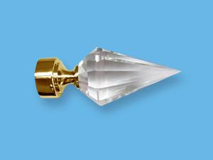 КРИСТАЛЛ ЗОЛОТО - наконечник для металлического карниза - выбор формы и цвета