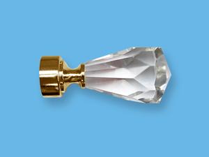 КРИСТАЛЛ-2 ЗОЛОТО - наконечник для металлического карниза - выбор формы и цвета
