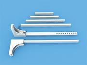 Кронштейн с выносом 10-30 см ЛЮКС белый кол-во 50 шт. для вертикальных жалюзи 89 мм