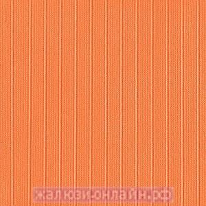 ЛАЙН 11 МОРКОВНЫЙ - Ламели вертикальные из ткани без карниза - цена за 1 кв. метр с грузилами и цепочкой