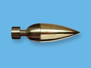 ЛИНЕА АНТИК ЗОЛОТО - наконечник для металлического карниза - выбор формы и цвета