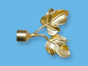ЛИСТЬЯ ЗОЛОТО МАТОВОЕ - наконечник для металлического карниза - выбор формы и цвета