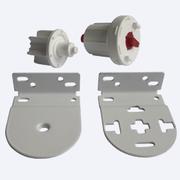 Ловолайт - Механизм управления 32+ мм цепочный для 32 мм трубы для рулонных штор - цена за 1 комплект с кронштейнами