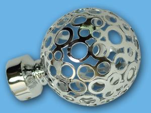 ЛУНА ХРОМ - наконечник для металлического карниза - выбор формы и цвета