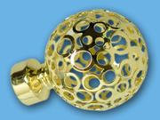 ЛУНА ЗОЛОТО - наконечник для металлического карниза - выбор формы и цвета