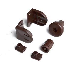 Коричневый механизм управления ROLLA 19 для МИНИ рулонной шторы на трубу 17-19 мм - цена за 1 к-т