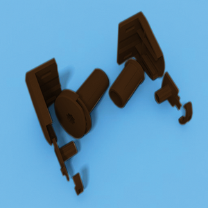 Комплект кронштейнов коричневый и механизм управления под трубу 17-19 мм КОРИЧНЕВЫЙ для МИНИ рулонной шторы - цена за 1 к-т
