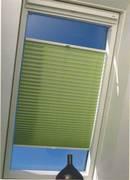 INTEGRA PLISSE шир. 40 см на выс. 100 см крепление в 15 мм штапик из ткани - ЭКО САЛАТОВЫЙ