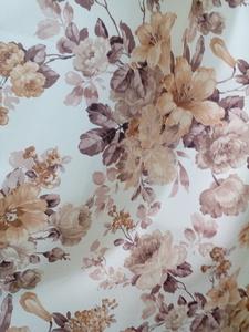 Римские шторы купить на окна - Портьерная ткань цветы бежевые. Арт. DJ-14-BL - цена за 1 кв.м.