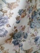 Римские шторы купить на окна - Портьерная ткань цветы голубые. Арт. DJ-11-BL - цена за 1 кв.м.