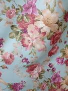Римские шторы купить на окна - Портьерная ткань цветы розовые. Арт. DJ-209-BL - цена за 1 кв.м.