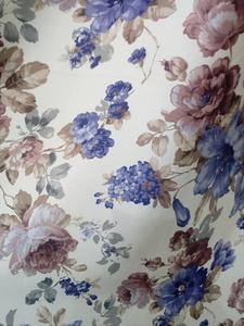 Римские шторы купить на окна - Портьерная ткань цветы синие. Арт. DJ-208-BL - цена за 1 кв.м.