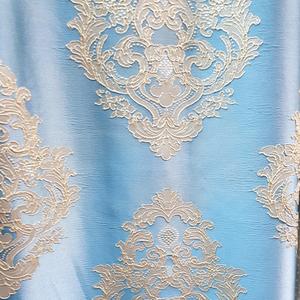 Римские шторы фото Портьерная ткань классика голубая. Ширина - 280 см. Арт. KPT7-11 - цена за 1 кв.м.