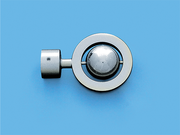 САТУРН САТИН ХРОМ - наконечник для металлического карниза - выбор формы и цвета