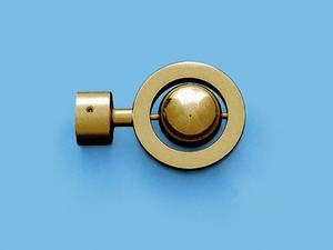 САТУРН ЗОЛОТО МАТОВОЕ - наконечник для металлического карниза - выбор формы и цвета