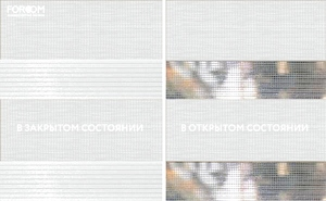 Рулонные шторы день ночь GRANDE BOX DUO - Рулонные шторы ЗЕБРА из ткани SAVANA БЕЛЫЙ - Цена за 1 пог. метр высоты