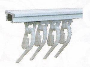 ТЮЛЬ - тип карниза для легких штор, тюля с французскими крючками и с креплениями на заказ шириной 180см