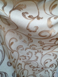 Римские шторы купить на окна - Ткань для портьер Цветы бежевые. Арт. DJ-13R - цена за 1 кв.м.