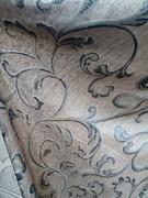 Римские шторы купить на окна - Ткань для портьер Цветы черные. Арт. DJ-12R - цена за 1 кв.м.