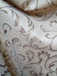 Римские шторы купить на окна - Ткань для портьер Цветы темно бежевые. Арт. DJ-14R - цена за 1 кв.м.