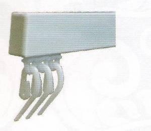 УНИВЕРСАЛ - тип карниза для штор с французскими крючками и с креплениями на заказ шириной 180см