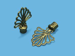 ВЕЕР АНТИК - наконечник для металлического карниза - выбор формы и цвета