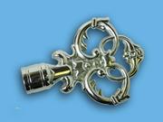 ВЕРСАЛЬ ХРОМ - наконечник для металлического карниза - выбор формы и цвета