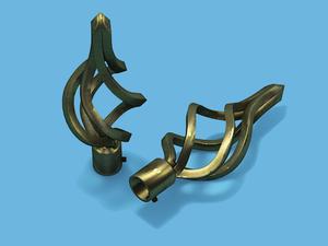 ВИРАЖ АНТИК - наконечник для металлического карниза - выбор формы и цвета