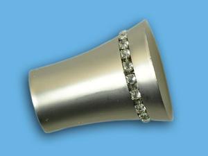 ВИЗИРЬ САТИН - наконечник для металлического карниза - выбор формы и цвета