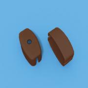 Заглушка коричневая на нижнюю планку рулонные шторы мини