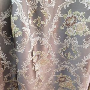 Римские шторы фото Жаккардовая ткань Гобелен светло-коричневый. Ширина - 280 см. Арт. KPT8-8-01 - цена за 1 кв.м.