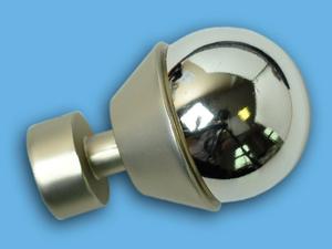 ЖЕМЧУЖИНА САТИН ХРОМ - наконечник для металлического карниза - выбор формы и цвета